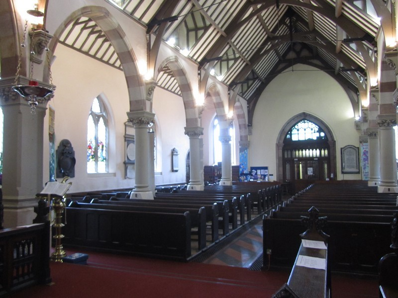 The south aisle and nave viewed from the north choir stalls
