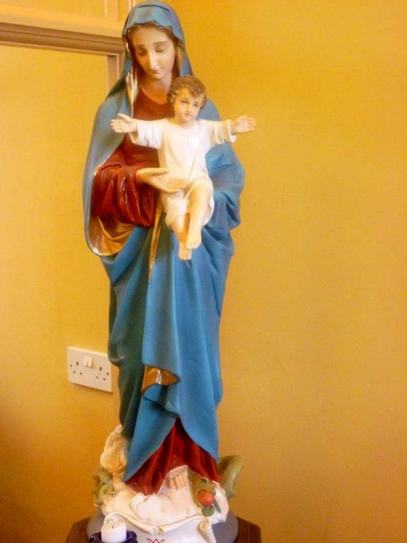 The Blessed Virgin Mary carrying the Christ Child