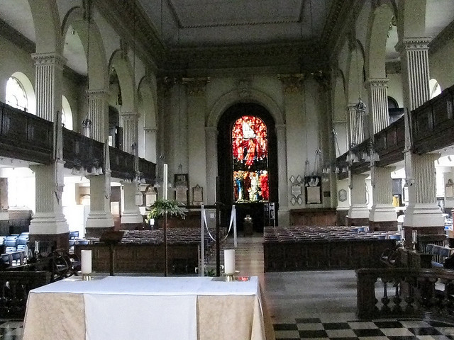 Looking westwards from the chancel