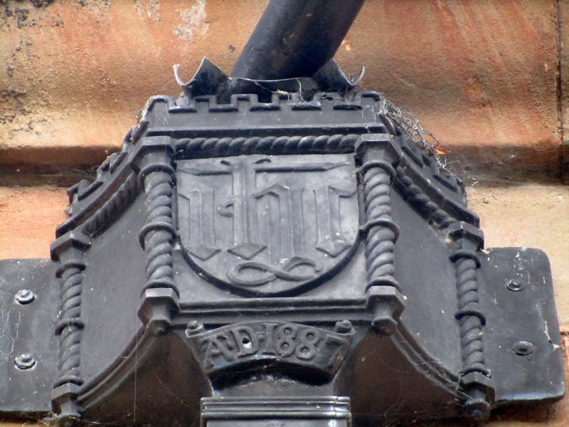 Commemorating the 1887 rebuilding after the previous year's fire
