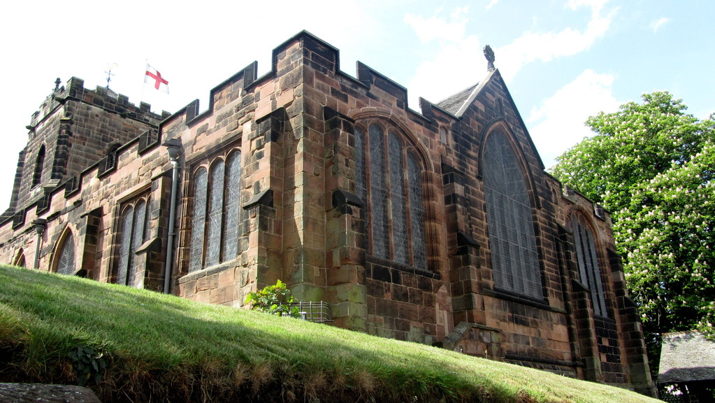 Left to right: south chapel 1533; chancel originally 13th-century, rebuilt 15th century
