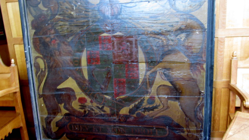 Stuart coat-of-arms - not currently on display
