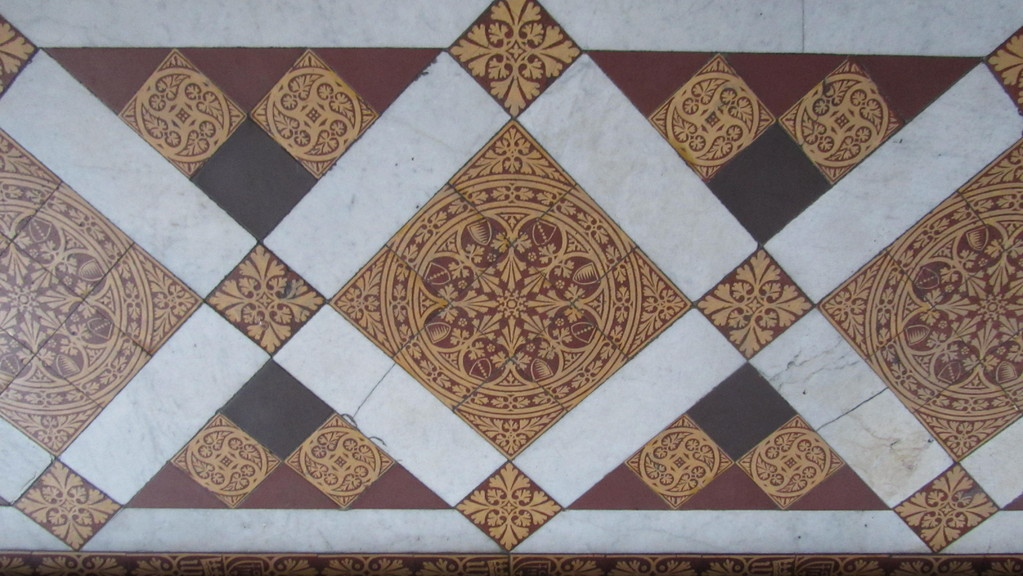 Minton tiles in the chancel
