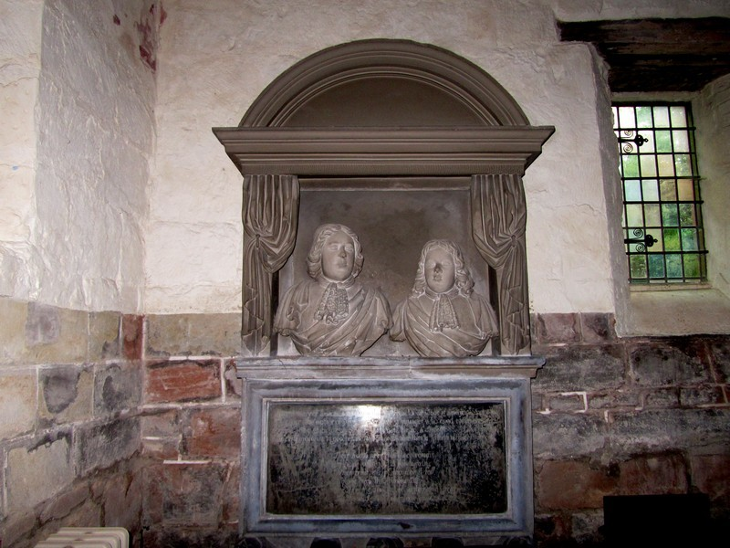 Monument to two half brothers, Benjamin and Samuel White, whose father Samuel White was a benefactor of the parish, giving money to help the poor and needy.