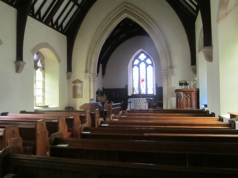 View eastwards towards the chancel