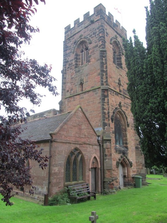 Tower - north face and 19th-century north west-vestry