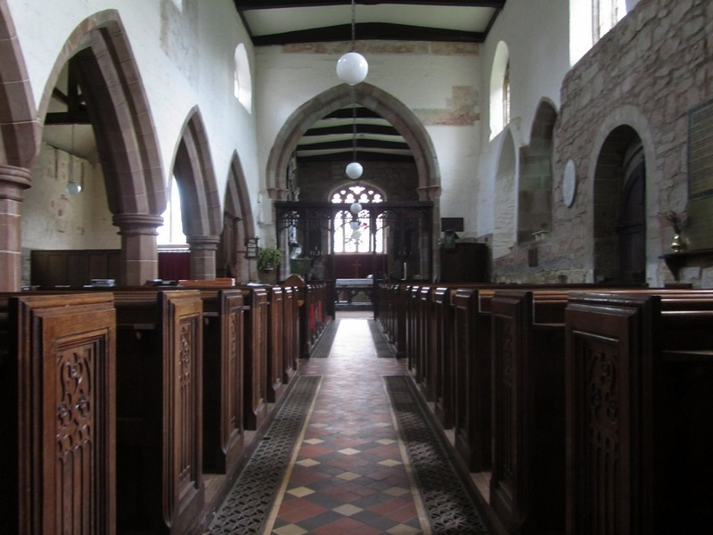 The nave - looking east