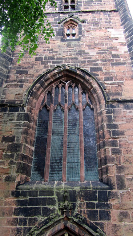 15th-century perpendicular west window in tower