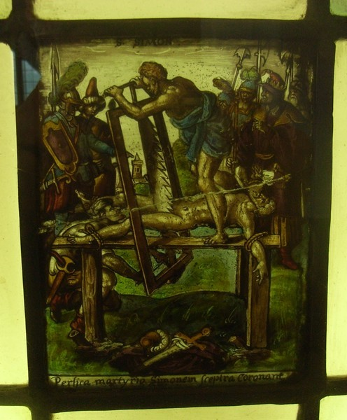 Flemish c1590 of very good quality and fine detail. A series shows the gruesome deaths of some of the Church's martyr saints.