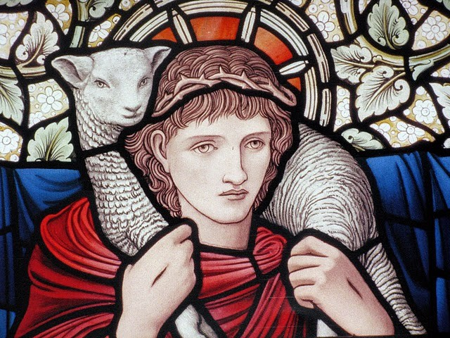 Detail - Window designed by Burne Jones executed by William Morris & Co.