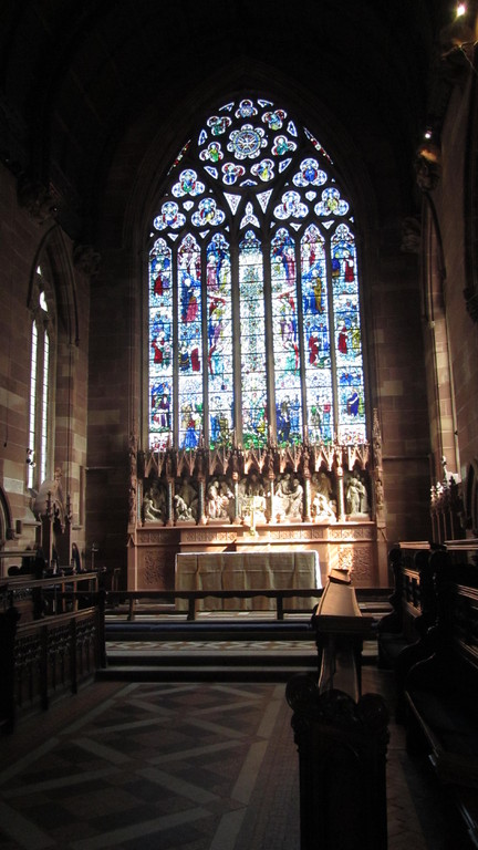 The high altar and east window