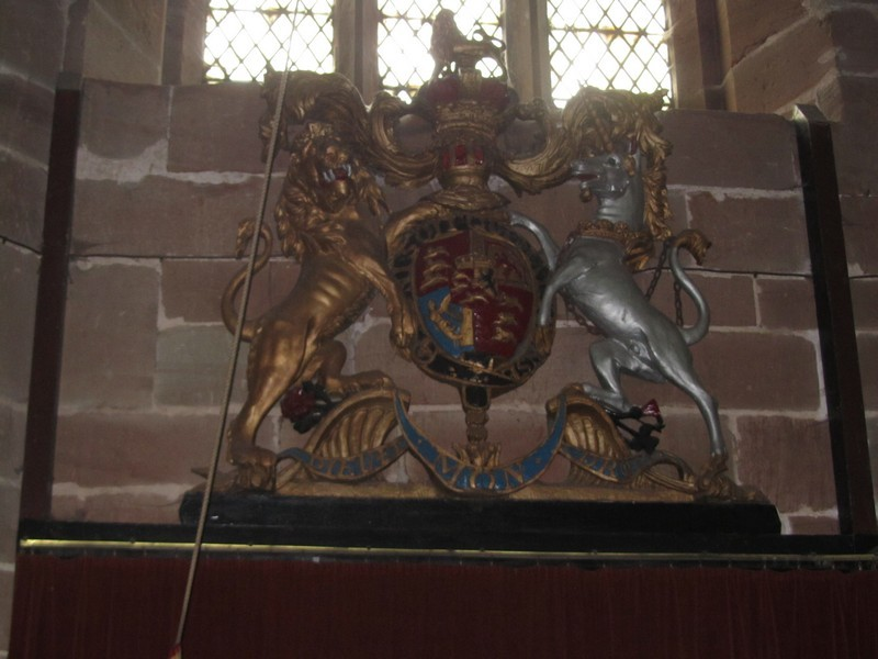 Royal arms in the tower - believed to be 1822 and from Rugeley Church