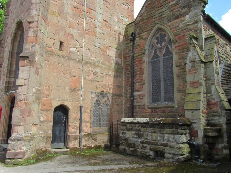Tower - south wall with door to the tower stair