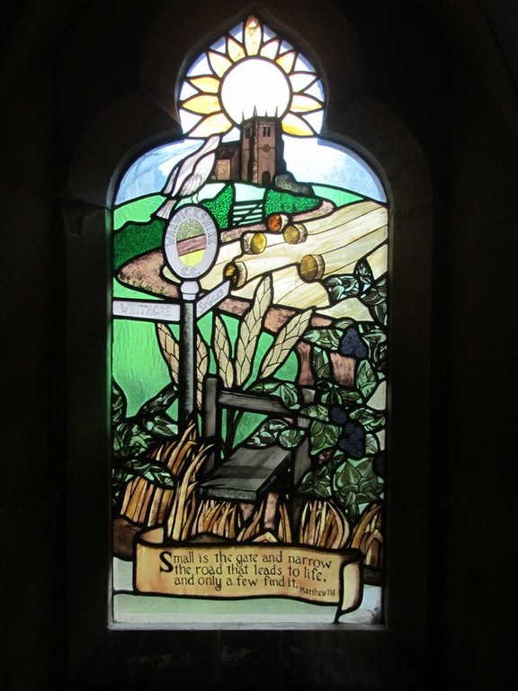 Millennium window in the south porch by local craftsman Gideon Howell