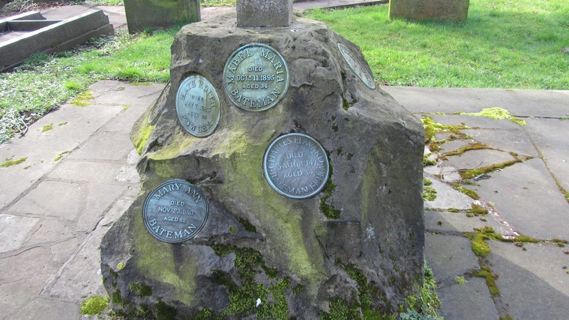The Bateman family memorial including C E Bateman