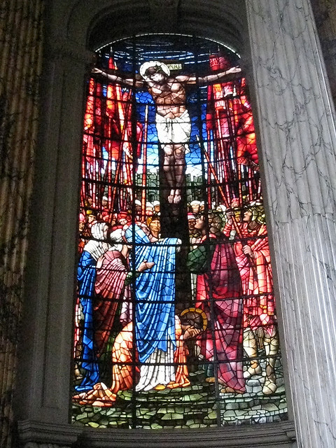 Burne-Jones Crucifixion in the chancel