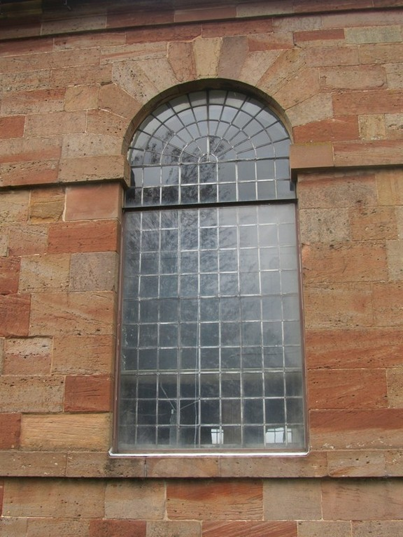 One of the nave windows on the south side