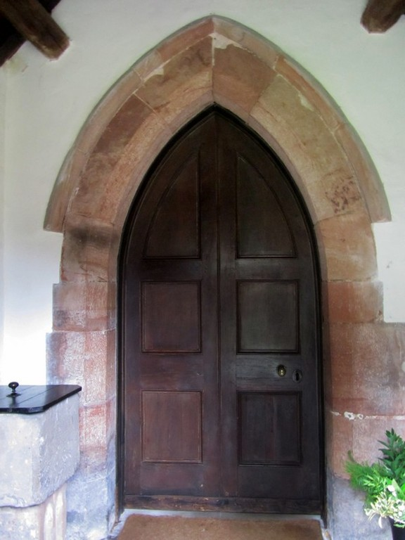 South door - 14th-century