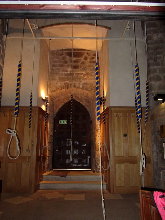 The bell ringing chamber in the west porch