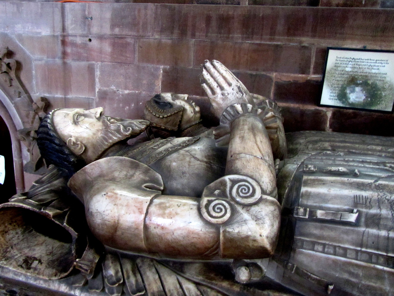 John Digby d.1558, and Anne his wife, altar tomb in the chancel