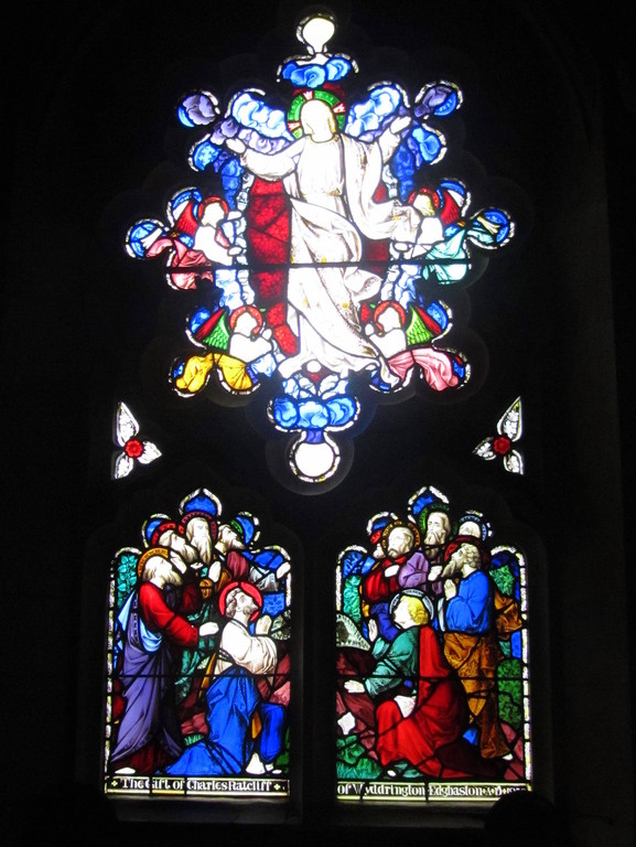 North chapel east window - The Ascension by Hardman's