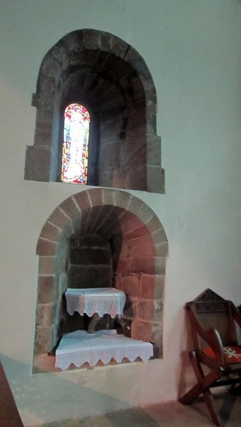 Two Norman windows in the chancel