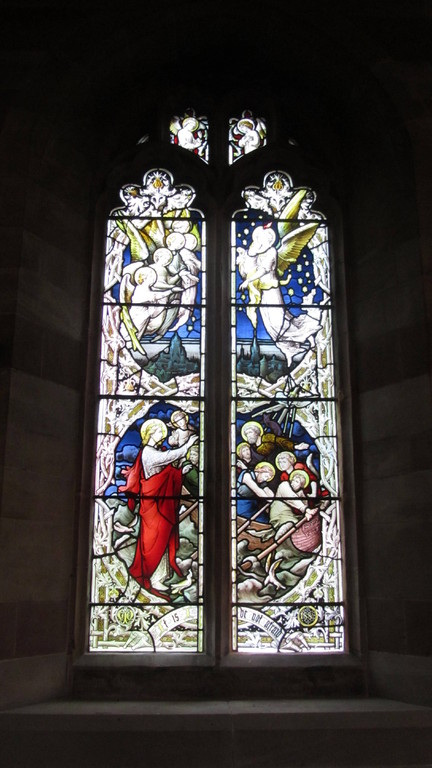 South aisle window - Christ Walking on the Water by Hardman's