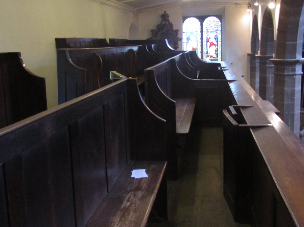 !8th-century box pews in the south gallery