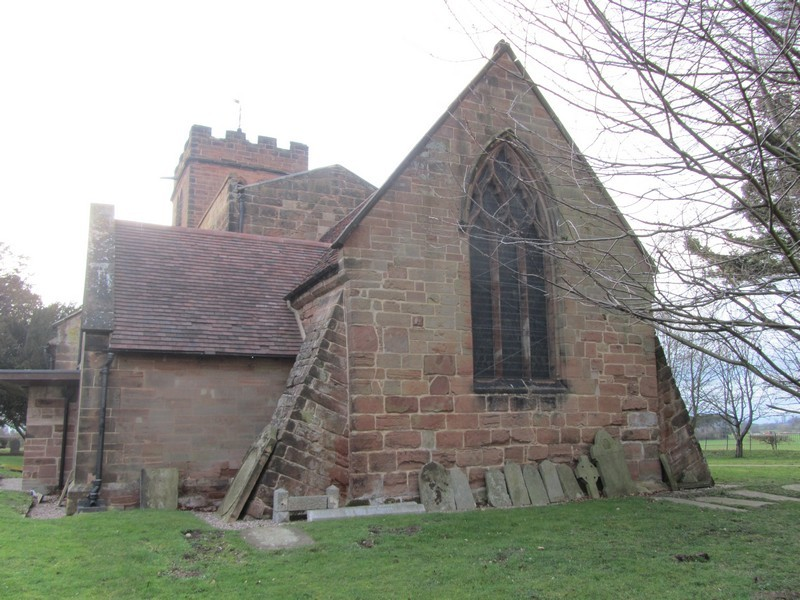 The chancel was built in the early 13th century