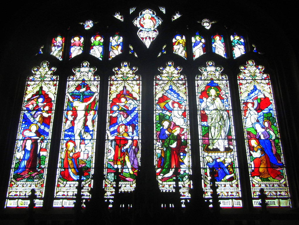 East window of the chancel - stained glass by Hardman's