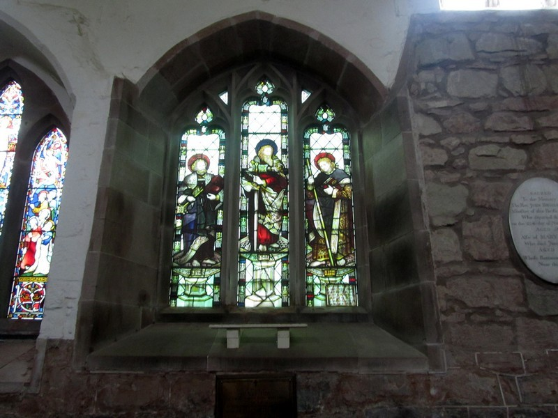 14th-century 3-lancet window in the south wall of the nave