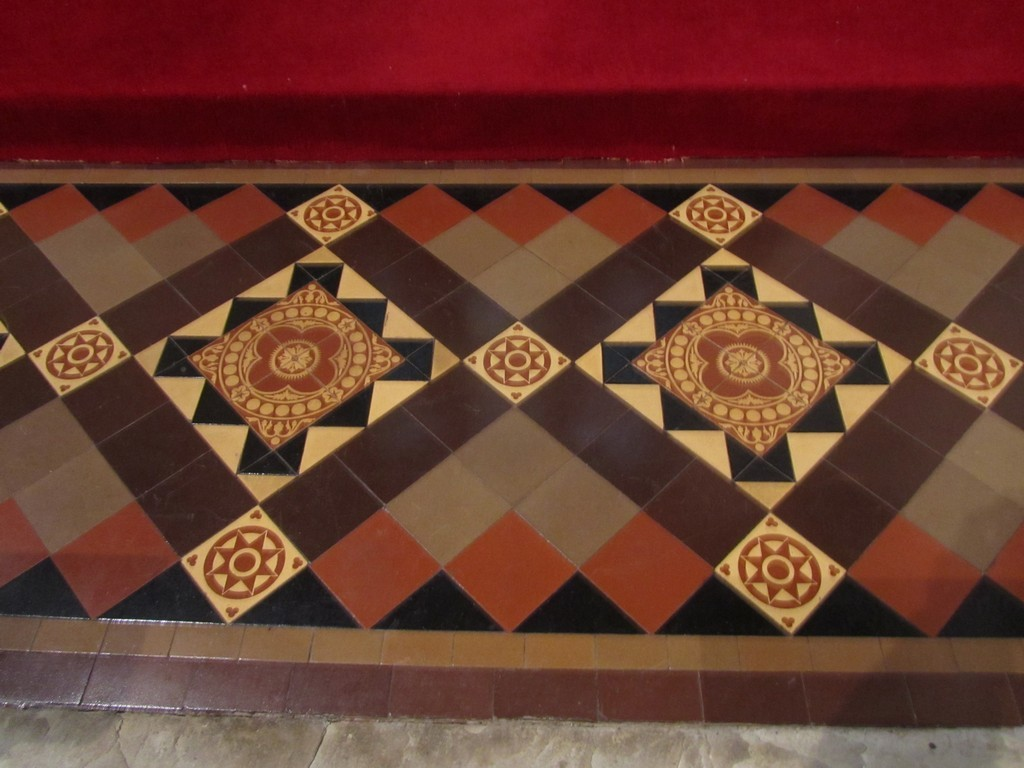 Encaustic tiles in the sanctuary
