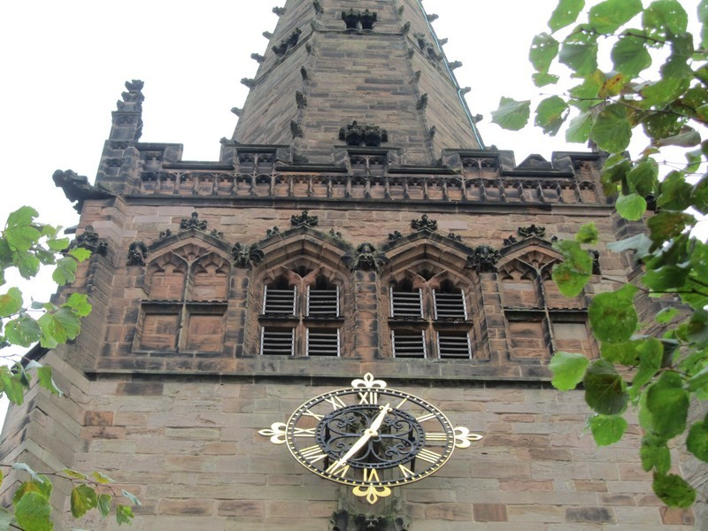 West face of the tower