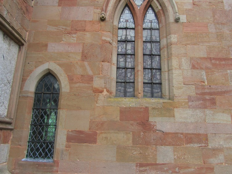 South wall of the chancel