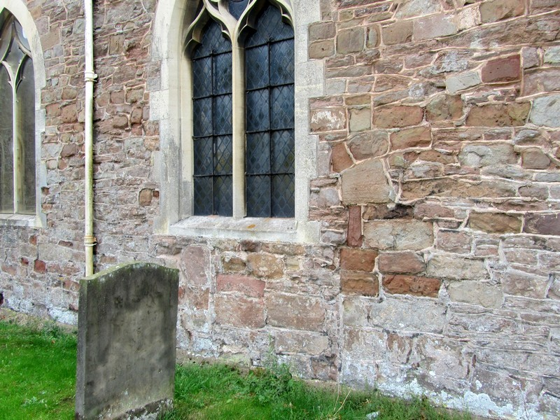 Nave - north side - with blocked doorway