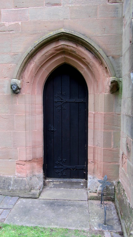 South door of the chancel, the priest's door