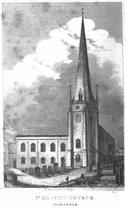 From William Hutton 1836 An History of Birmingham