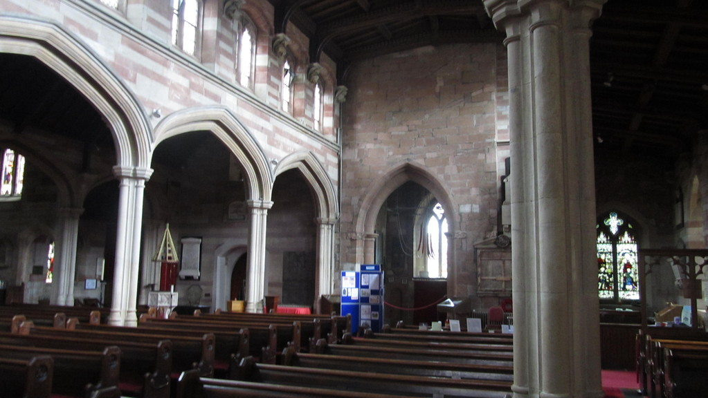 The nave looking west towards the tower