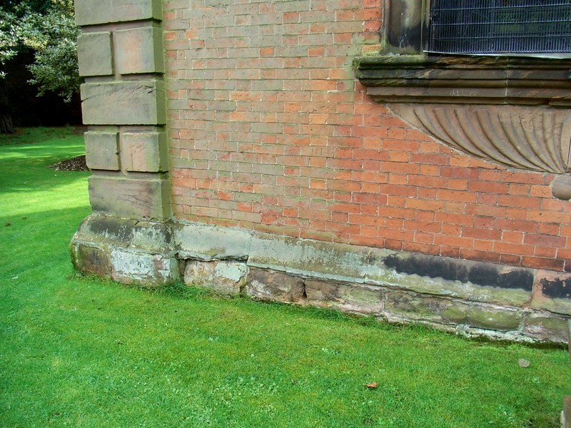 The stone footings of the chancel are very likely evidence of the Norman chapel.