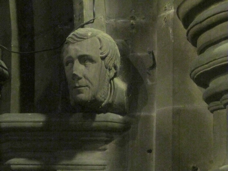 This is either the Bishop of York at the time of Chatwin's rebuilding or his friend, the Rector, William Randall.
