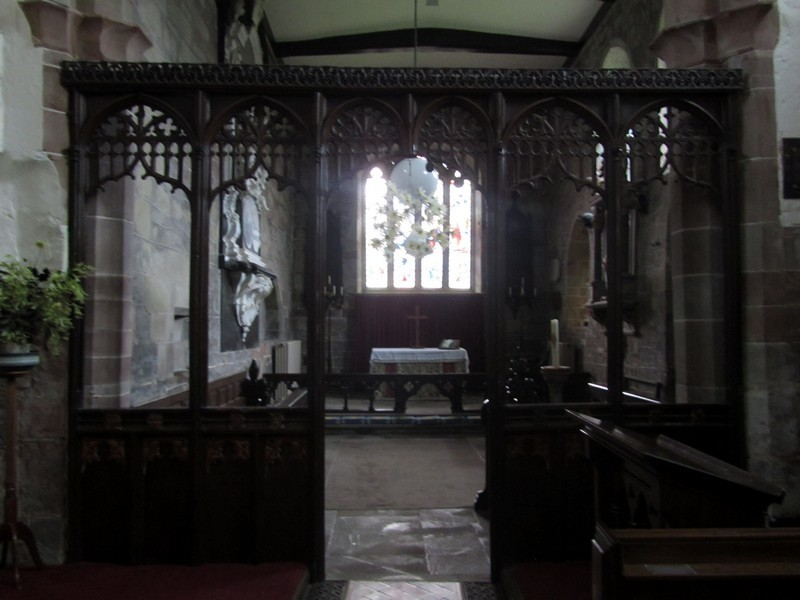 Chancel screen looking east into the chancel