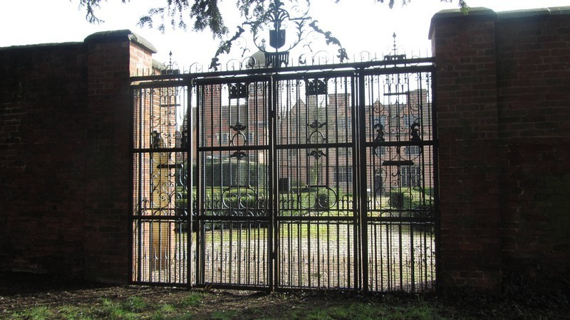 Gate on the south side of the church leading to castle Bromwich Hall