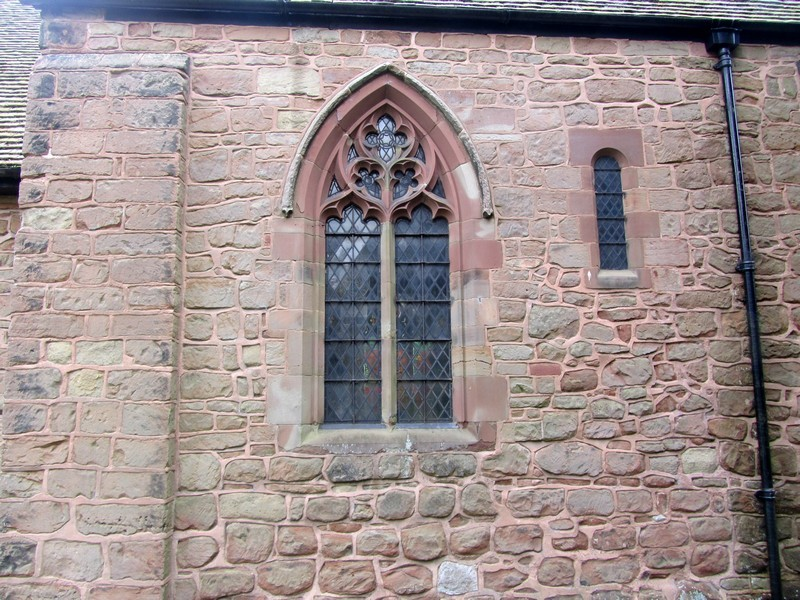 L to R - 15th-century window and 12th-century window