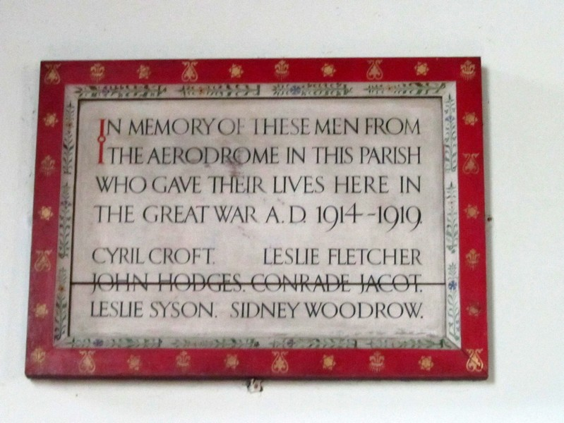 Memorial commemorating deaths of those serving at Castle Bromwich Aerodrome (now Castle Vale) which then lay in Curdworth parish