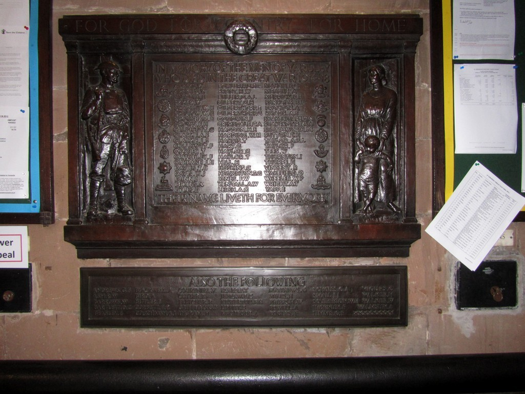 War memorial in the tower
