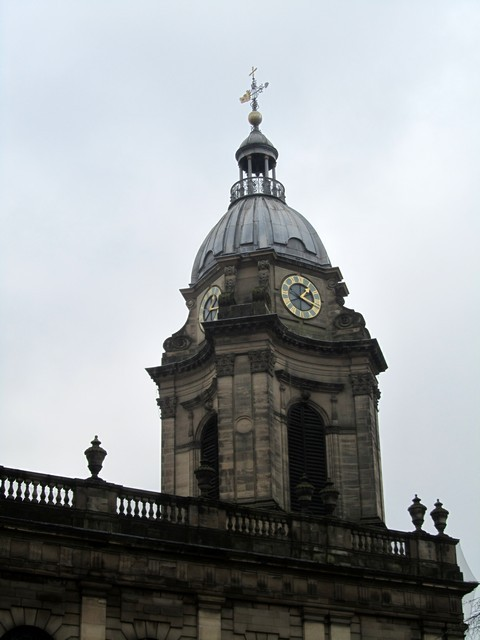 The tower was added in 1725 ten years after the church was finished.