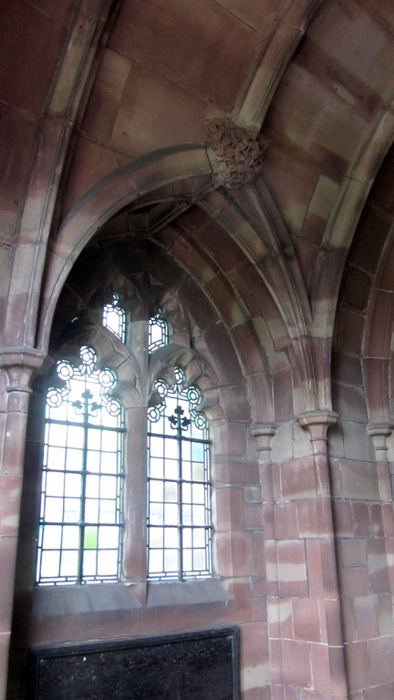 Vaulting inside the porch