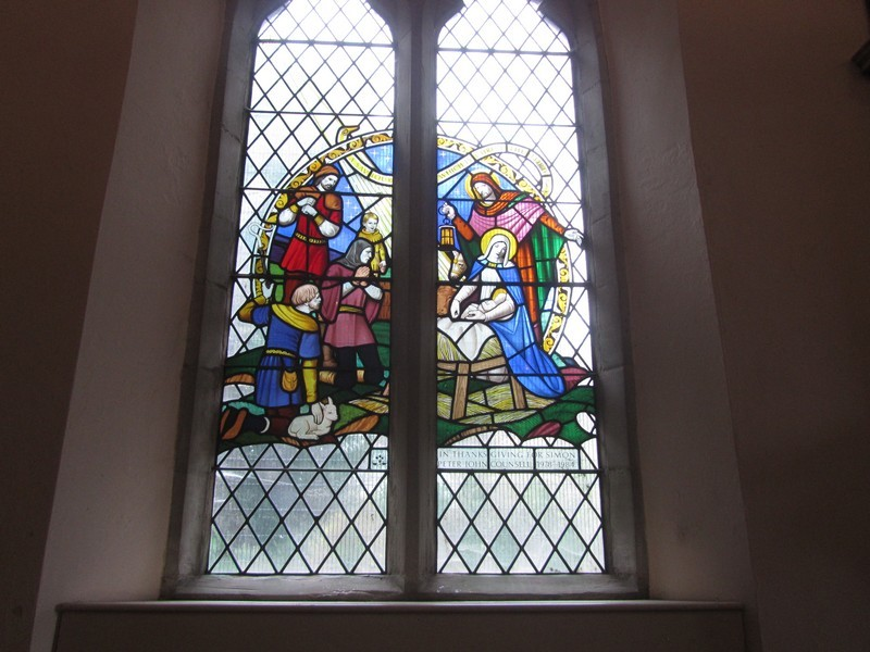 Window in memory of Rev Michael Counsell's son, Simon who died in a road accident age 6