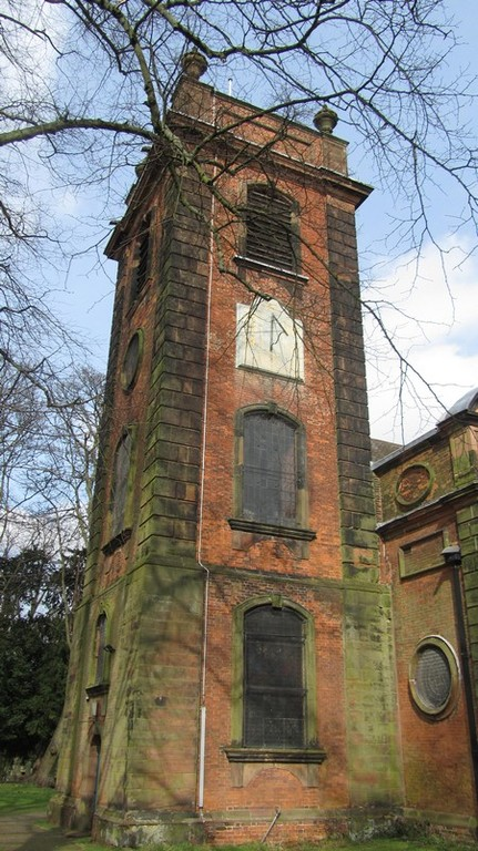 South face of the tower