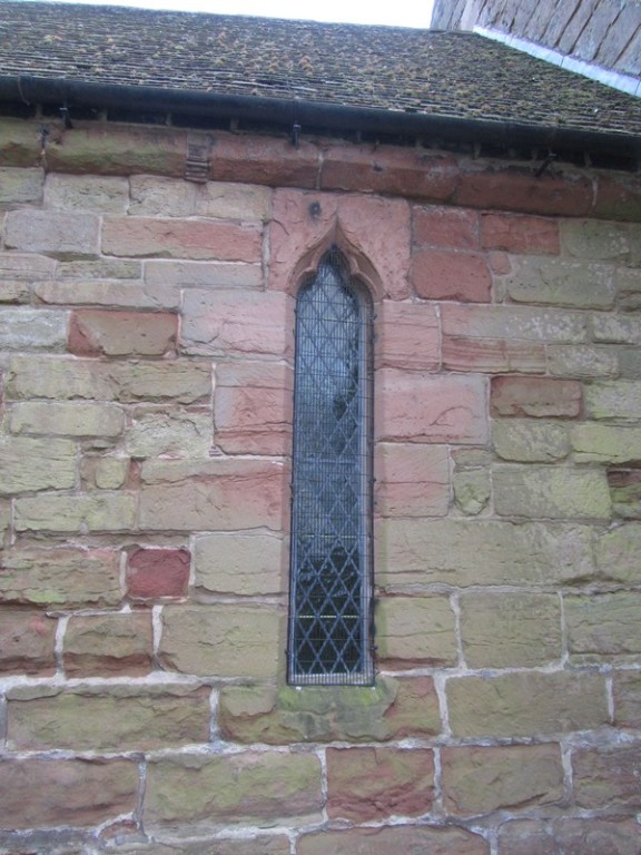 13th-century window in the south wall of the chancel